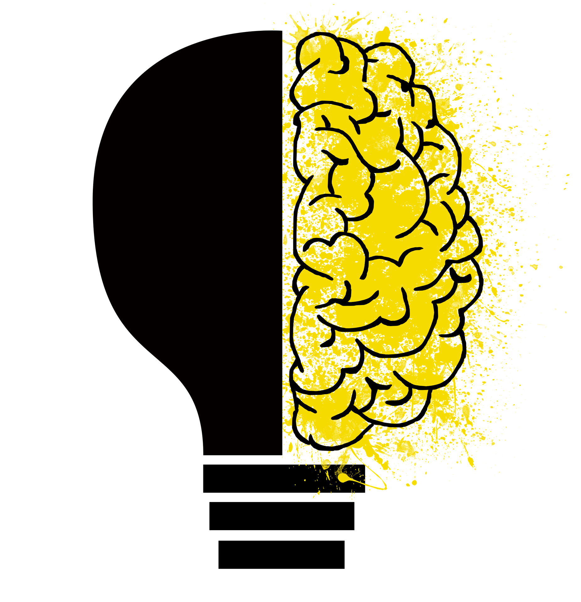 Image of lightbulb with brain drawing